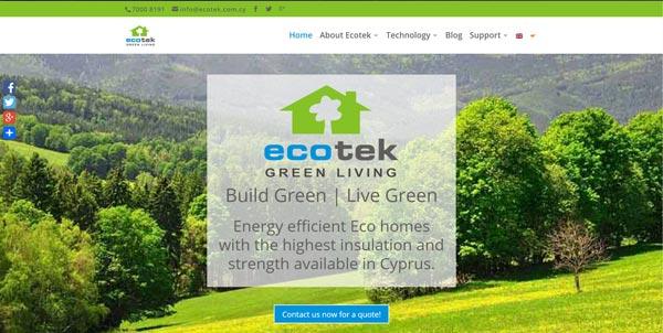 Καλώς ήρθατε στην νέα ιστοσελίδα της Ecotek Green Living