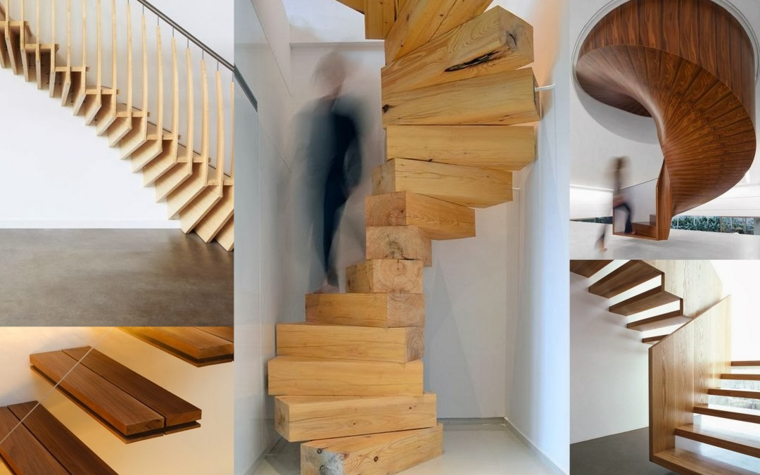 The elegance of wooden staircases.