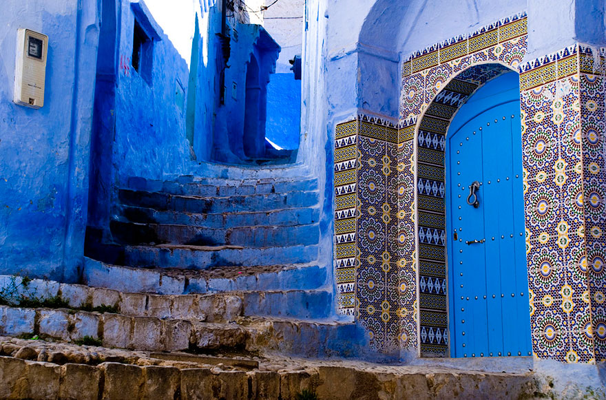 The beautiful blue town, Chefchaouen in Morocco