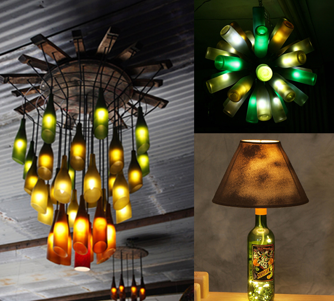 20 creative and imaginative ideas for recycling wine bottles