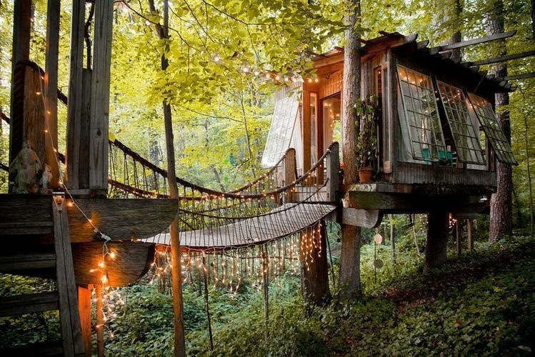 A dreamy place to stay in this magical tree house.