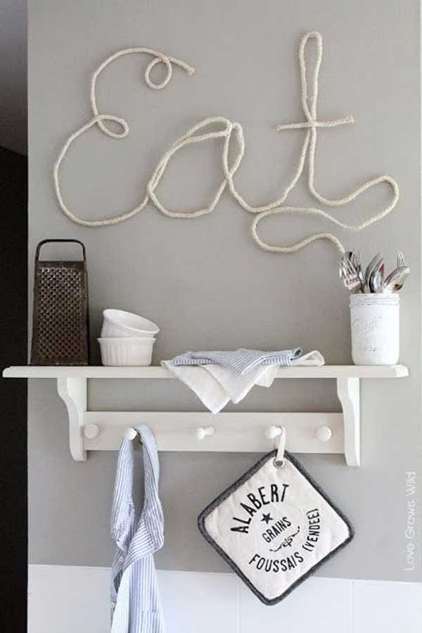Wall Decals Made of Rope