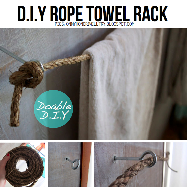 DIY Simple Rope Towel Rack