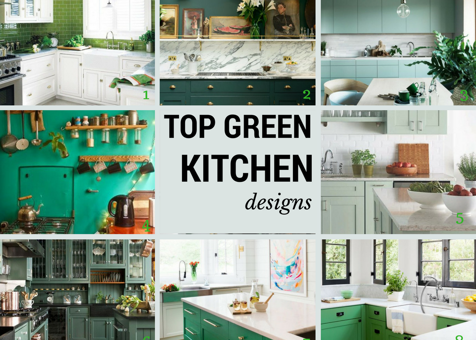 8 Kitchens That Are Green In Color