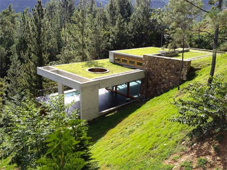 Almost Invisible: Secluded Green Home Buried in Hillside | Designs & Ideas on Dornob:
