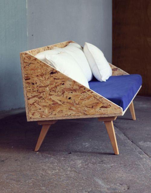 Beech and OSB Sofa-Cecile Guignard: