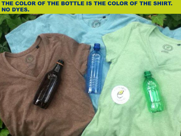 Image result for t shirts made from recycled plastic