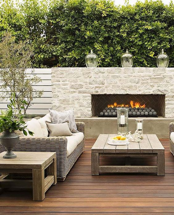 Like the concrete spheres would prefer a smoother face- maybe concrete for modern minimal look 53 Most amazing outdoor fireplace designs ever: