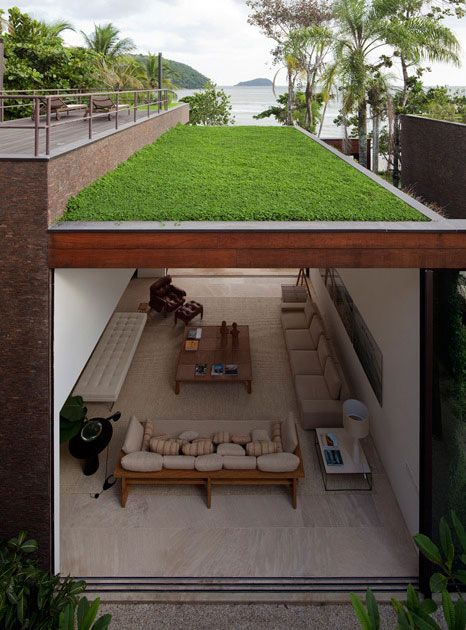 ♂ Sustainable architecture green building design green roof + living room eco gentleman #green #sustainable #design: