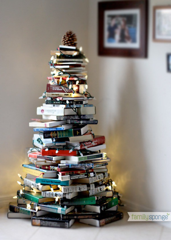 #book Christmas tree