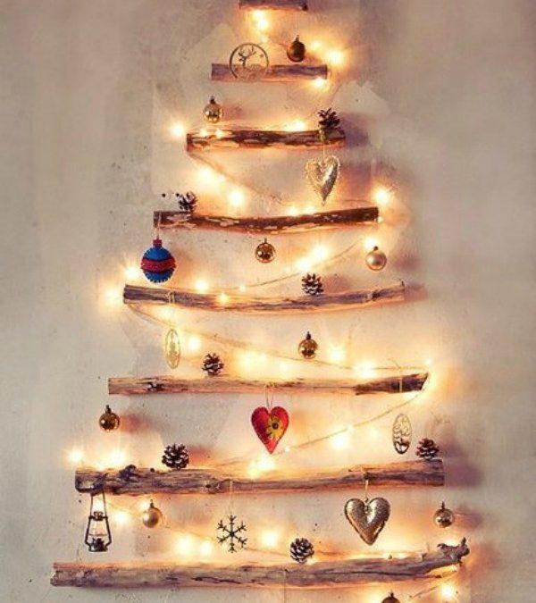 15 Έξυπνες και Φτηνές DIY Εναλλακτικές Λύσεις για το Χριστουγεννιάτικο Δέντρο