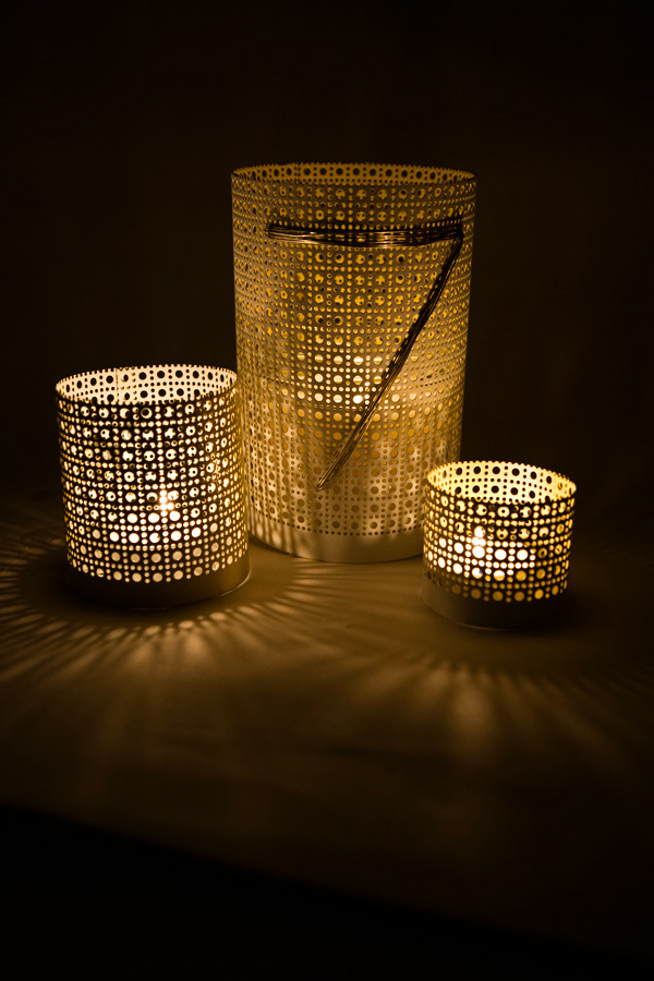 diy aluminum lanterns and vases