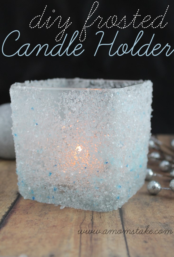 diy frosted candle