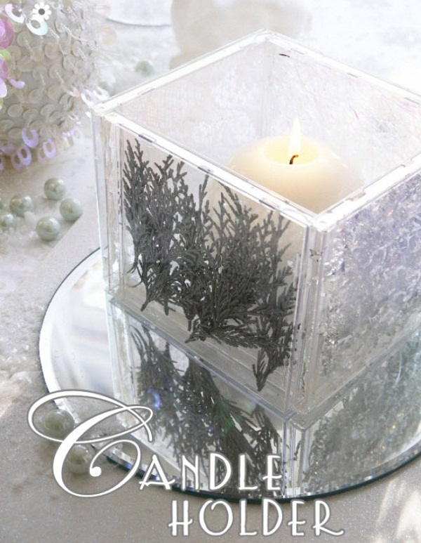 festive cd case candle holder