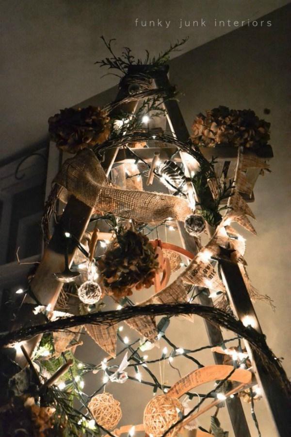 #ladder Christmas tree