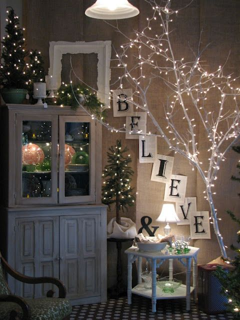 Merry Christmas! You can't go wrong with fairy lights - the more the merrier!:
