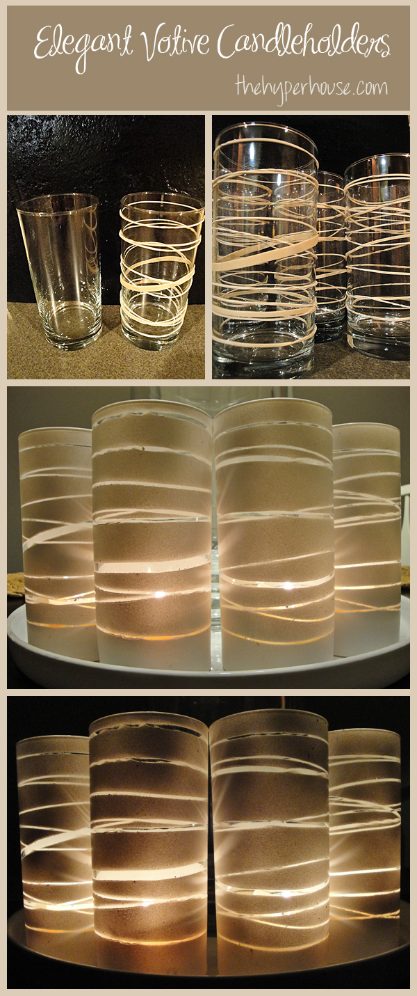 rubber band candle holder