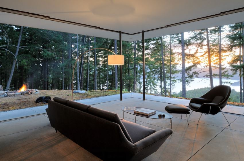Contemporary Seattle living room 10 Modern Rooms with a Forest View