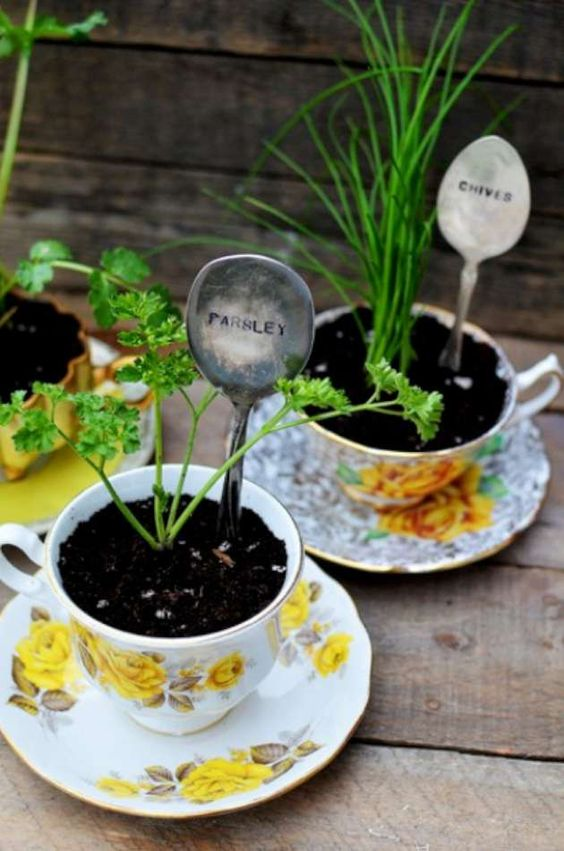 Love the flat spoon idea to help keep track of the names of plants: