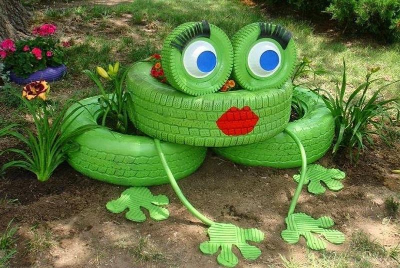 DIY Ιδέες Από Παλιά Ελαστικά Για Τον Κήπο Σας