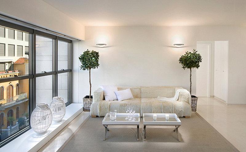 Posh interior with indoor trees