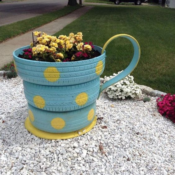 Recycling Tires coffee cup.^: