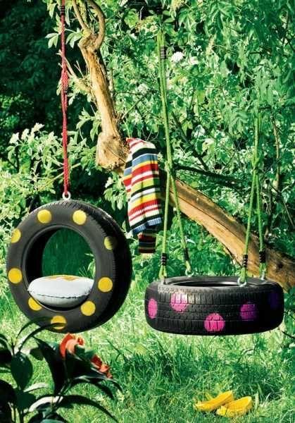 tire swing ideas | old-tire-swing | Craft Ideas: