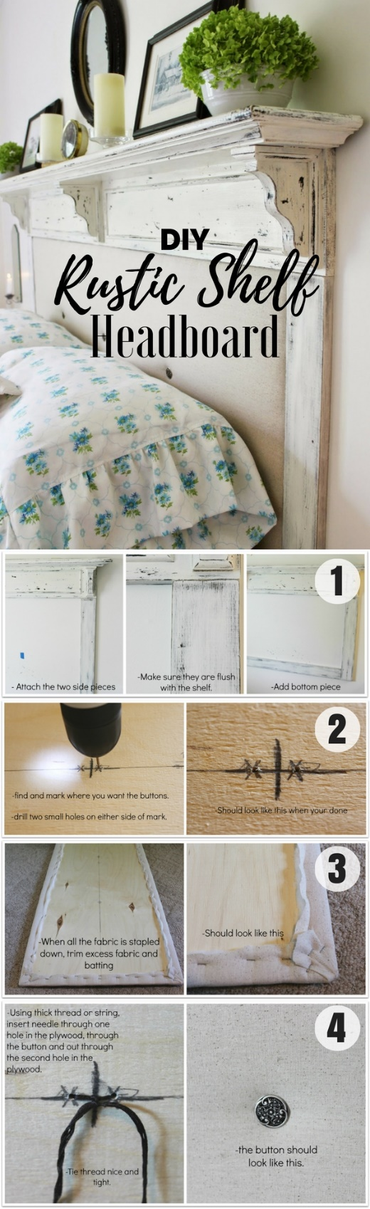 Check out how to build a DIY Rustic Shelf Headboard @istandarddesign