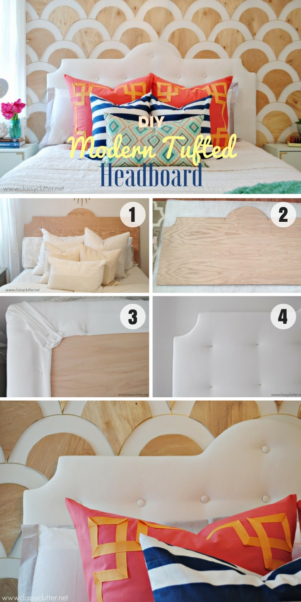 Check out how to build and easy DIY Modern Tufted Headboard @istandarddesign