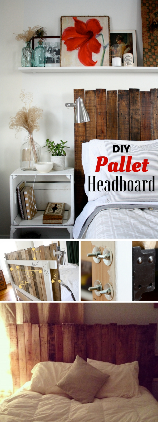 Check out how to build this easy DIY Pallet Headboard @istandarddesign