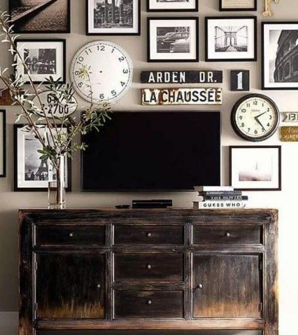 10 Έξυπνες Διακοσμητικές Ιδέες  για να Αποκρύψετε την Τηλεόραση στο Σπίτι σας