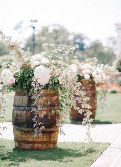 awesome 35+ Creative Rustic Wedding Ideas to Use Wine Barrels: