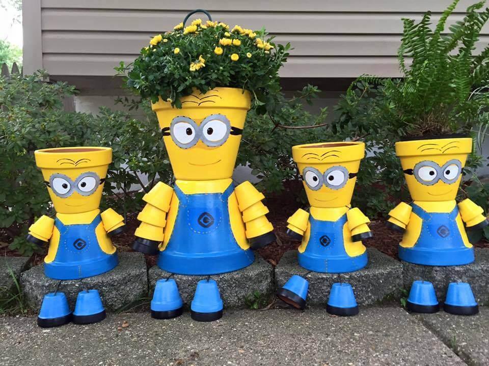 DIY Minion Flower Pot Decorations