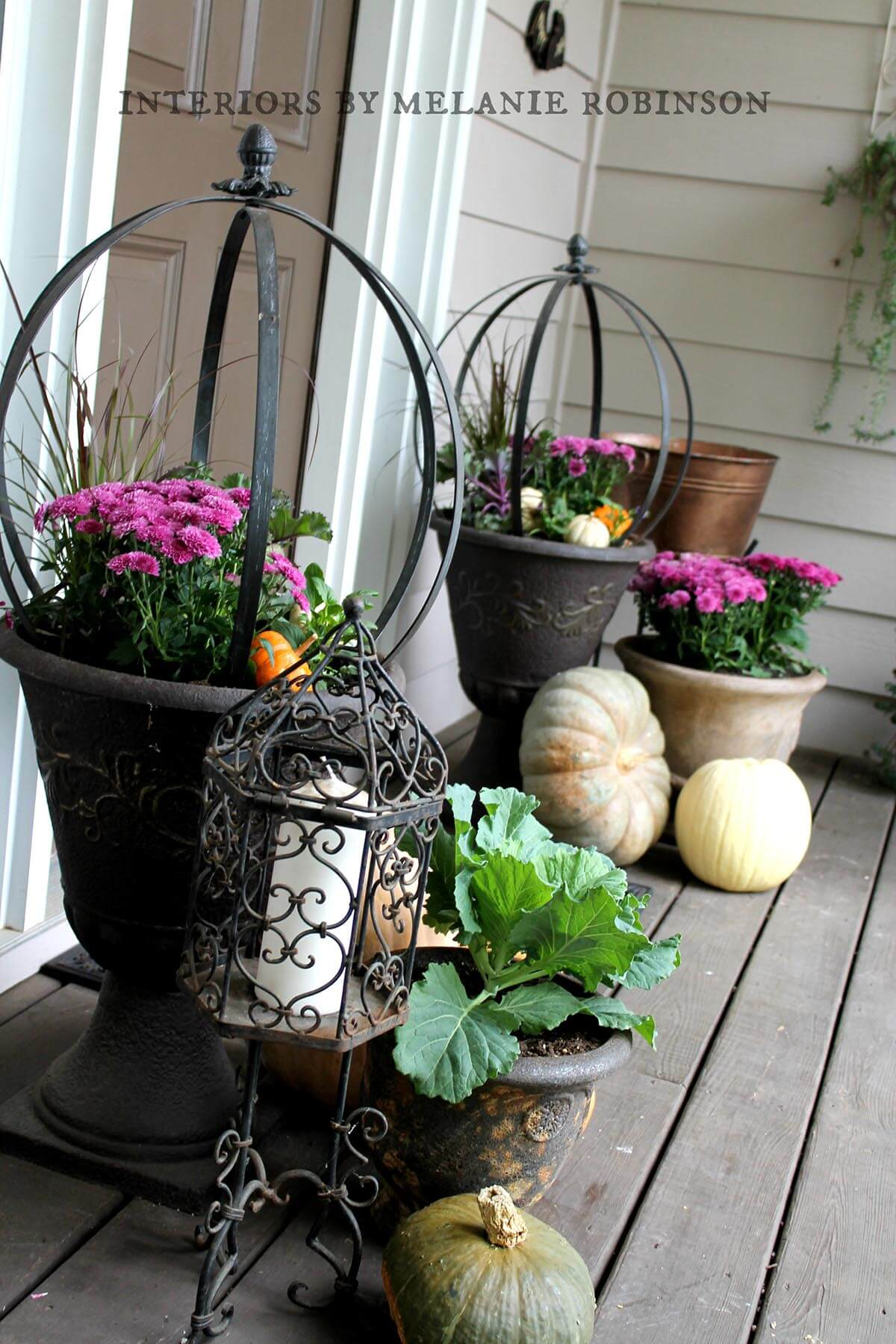 Oil Rubbed Bronze Mum Planters