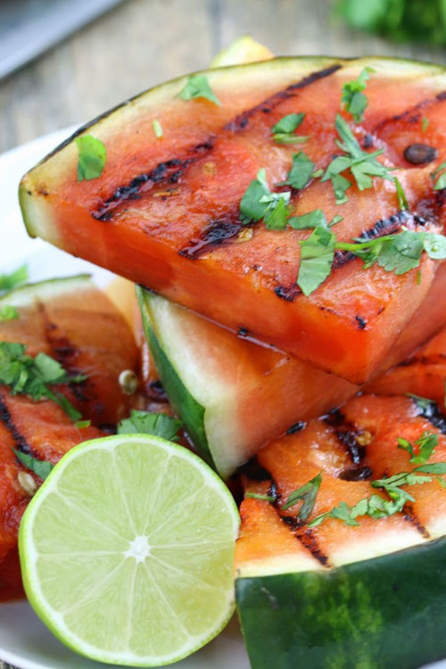 50+ Best Recipes for Fresh Watermelon - Cilantro Lime Grilled Watermelon