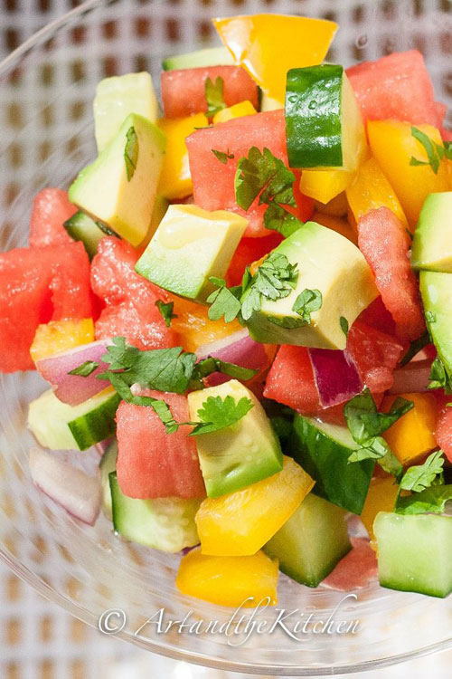 50+ Best Recipes for Fresh Watermelon - Cucumber Watermelon Summer Salad