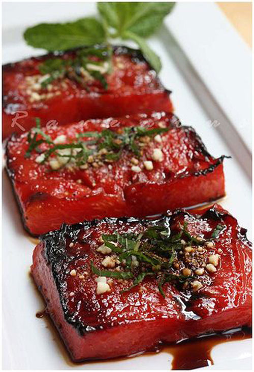 50+ Best Recipes for Fresh Watermelon - Grilled Watermelon Steak