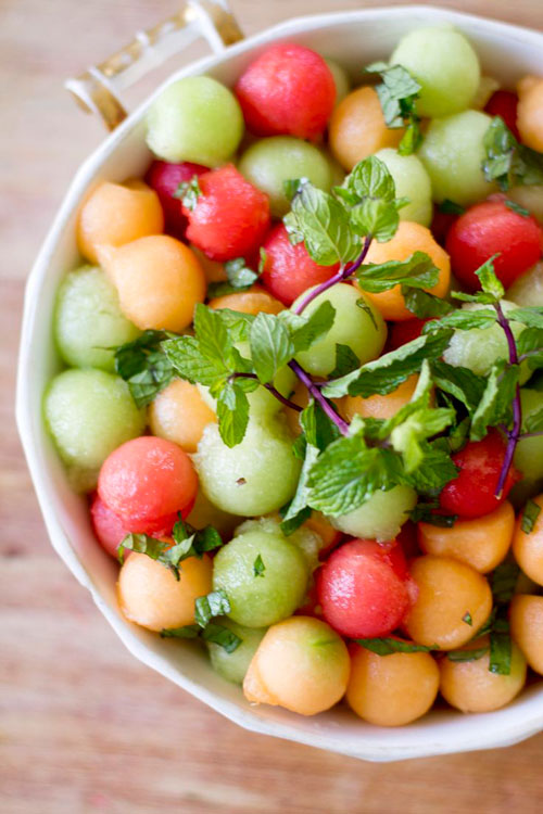 50+ Best Recipes for Fresh Watermelon - Minty Watermelon Salad