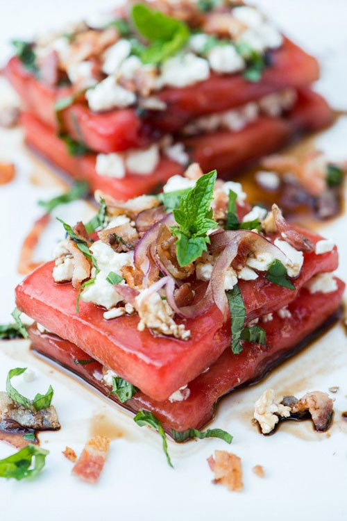 50+ Best Recipes for Fresh Watermelon - Savory Watermelon Sandwich