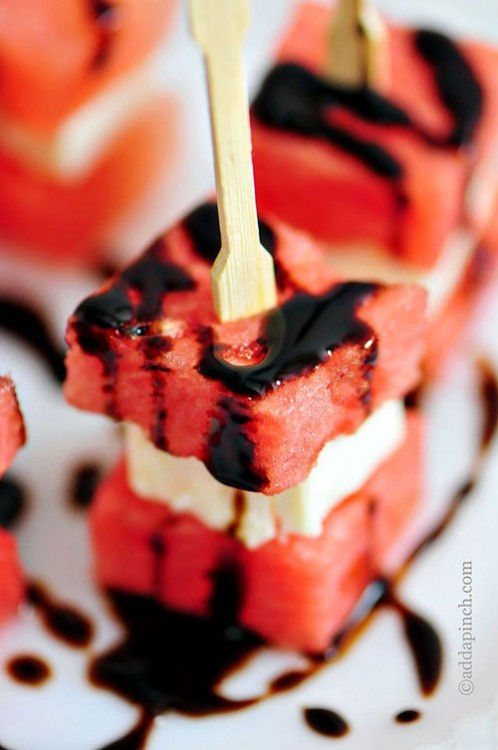 50+ Best Recipes for Fresh Watermelon - Watermelon Feta Bites