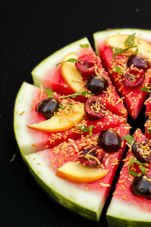50+ Best Recipes for Fresh Watermelon - Watermelon Pizza