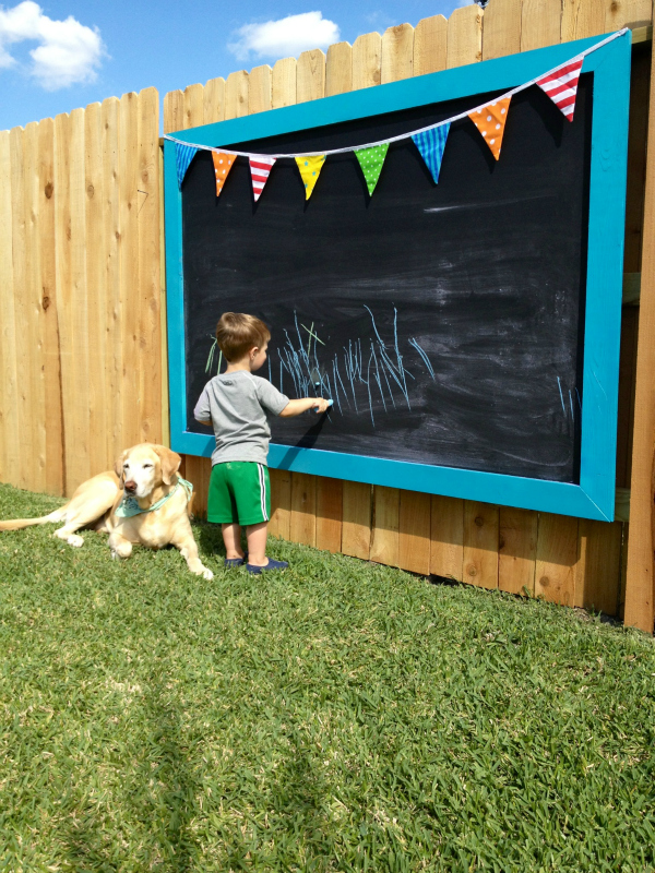 An Outdoor Chalkboard