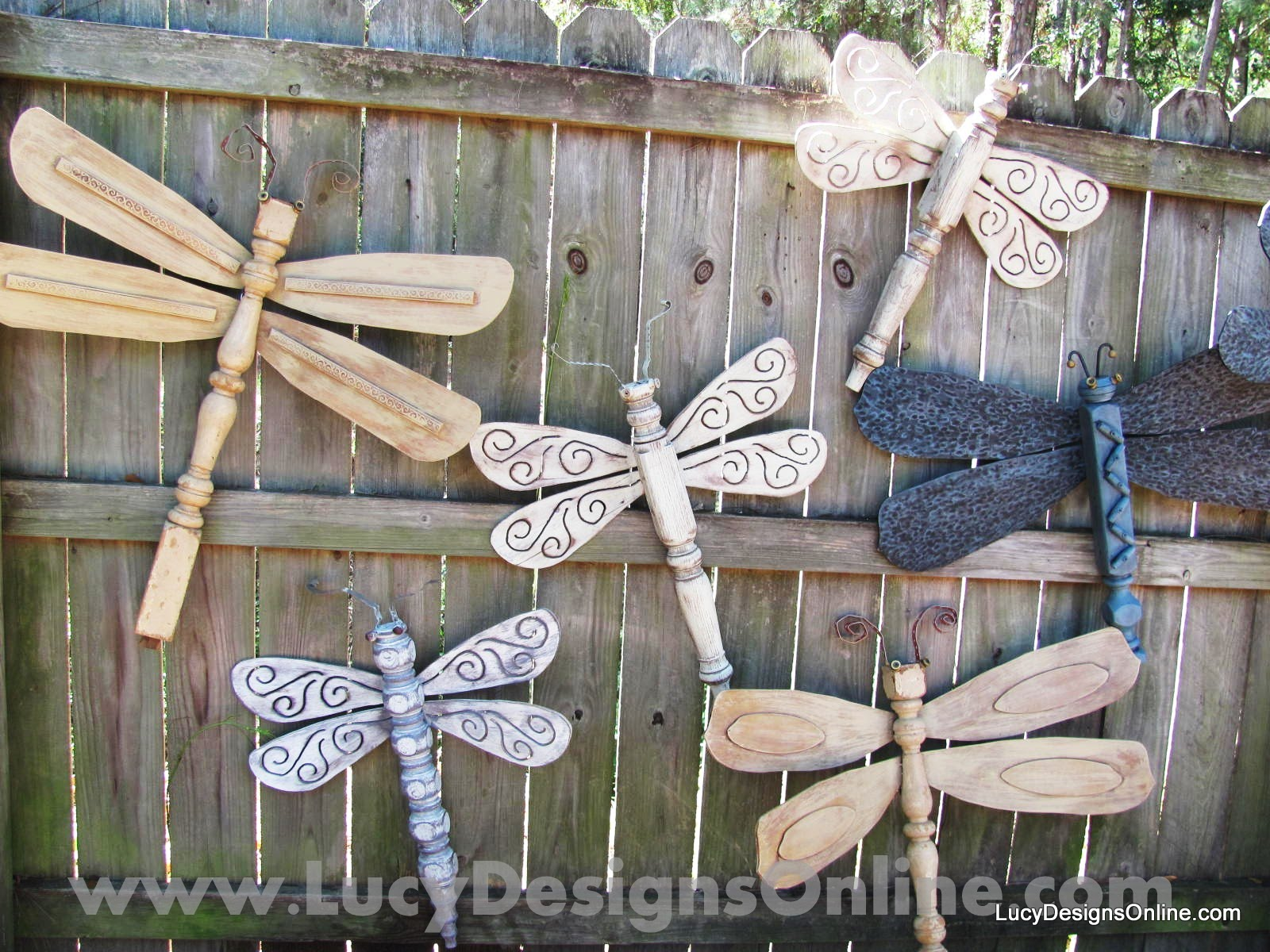 Dragonflies Made out of Furniture Elements