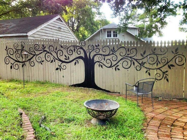 Image result for fence mural