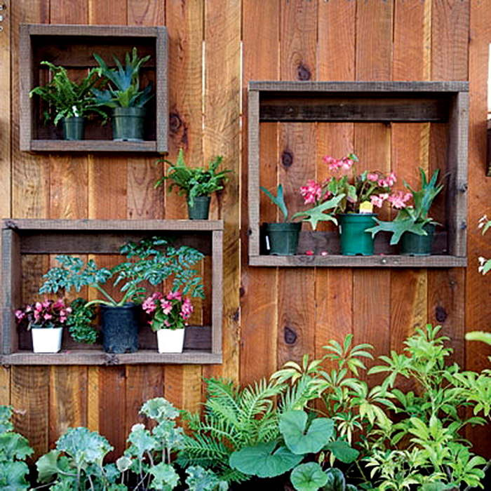 Image result for fence shadow box decor