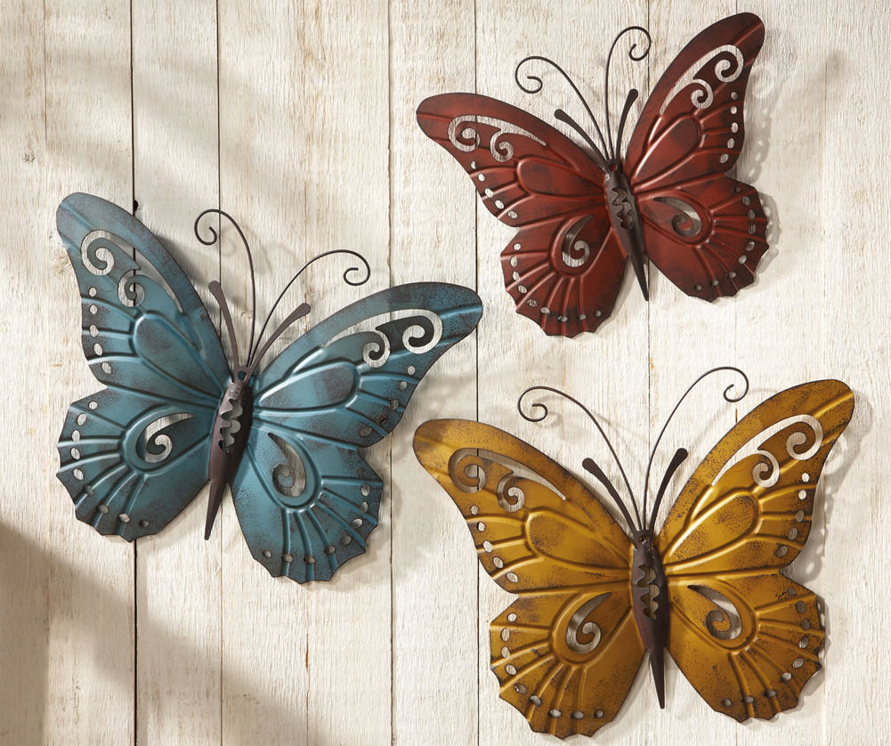 Image result for metal butterfly fence