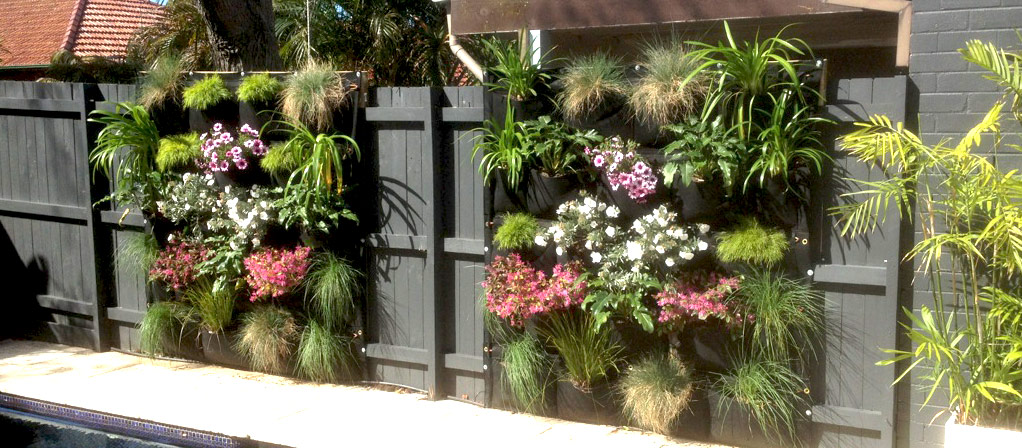 Image result for vertical garden fence