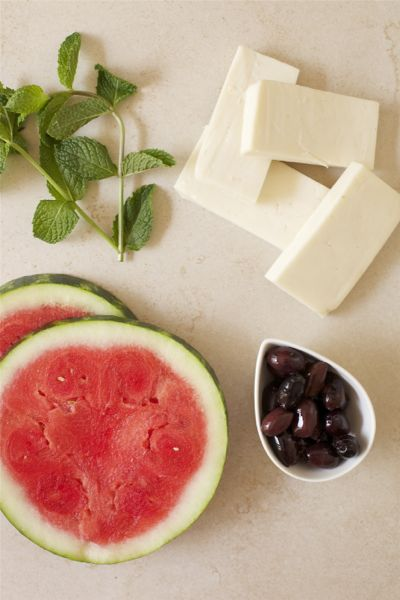 Image result for watermelon with halloumi