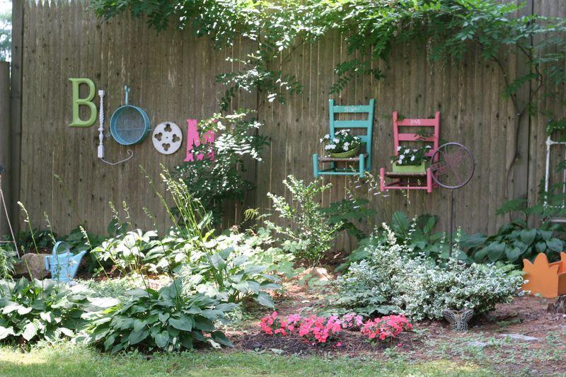 Junk Garden Fence