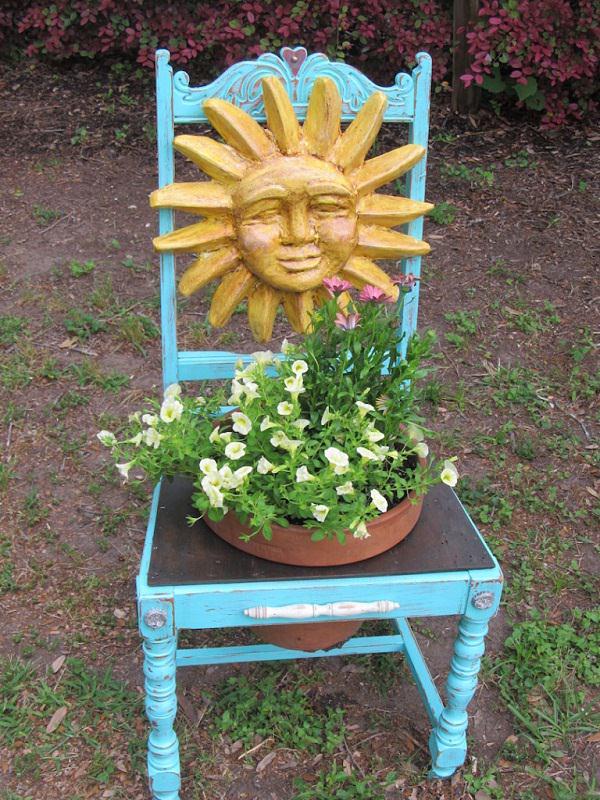 chair planter ideas